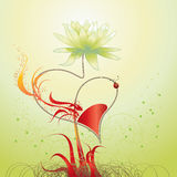 Love. Casmin, flowers and fire Royalty Free Stock Photo