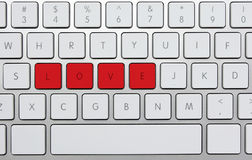 """Love. Red letters """"love"""" on keyboard Stock Images"""