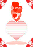 Love. Heart in love networks. love a life symbol on the earth Stock Images