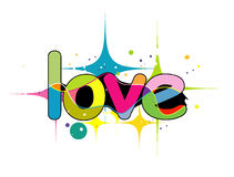 Love. Letter created in illustrator Royalty Free Stock Photos