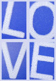 Love. Placard, poster, phototypograph letters Stock Photo
