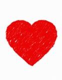 Love. Hand drawn heart vector illustration