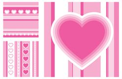 Love. Set of  illustrations of st. valentine's day greeting cards Royalty Free Stock Photos