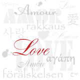 Love. Abstract background from love words. Multilanguage Royalty Free Stock Images