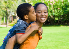 Love. Family love concept: african american mother and son Royalty Free Stock Image