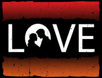 Love Abstract. Abstract Aged and Grungy Background Illustrating Love stock illustration