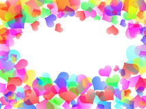 Love abstract background heart colorful hearts Royalty Free Stock Images