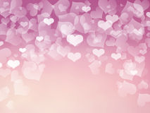 Love abstract background heart colorful pink white Royalty Free Stock Image