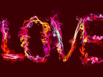 Love abstract background heart colorful smoke Stock Photo