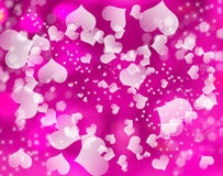 Love abstract background shiny hearts colorful blurs Royalty Free Stock Photos