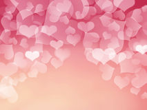 Love abstract background shiny hearts pink Royalty Free Stock Images