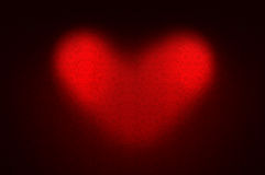 Love abstract background. Two spotlights forming a heart shape royalty free illustration