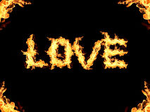 Love abstract flame Royalty Free Stock Photo