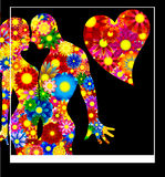 It is love - an abstract illustration. Abstract background, for congratulations, cards, posters and posters Royalty Free Stock Images