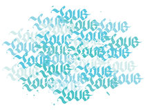 Love abstract ornamental pattern Royalty Free Stock Photography