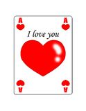 Love. Ace of hearts royalty free stock photography