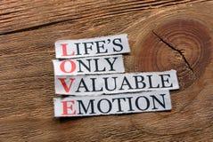 Love acronym Royalty Free Stock Photo