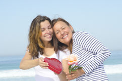 Love of Adult Mother and Daughter Stock Images