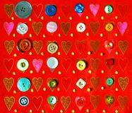 Love-affair with buttons Royalty Free Stock Photography
