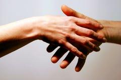 Love affair handshake Stock Image