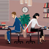 Love affair at work Royalty Free Stock Image