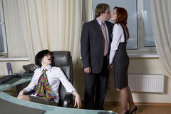 Love affairs. Office people. Stock Photography