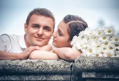 Love and affection between a couple Stock Image