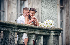 Love and affection between a couple Royalty Free Stock Photos