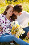 Love and affection between a young couple Stock Photo