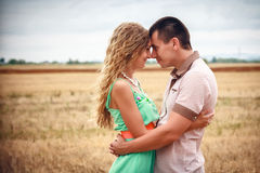 Love and affection between a young couple Royalty Free Stock Images