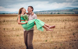 Love and affection between a young couple. Happy Love and affection between a young couple Royalty Free Stock Images