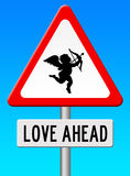 Love ahead. Hoping for the long awaited love and romance Stock Photo
