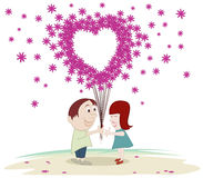 Love in the air Stock Image