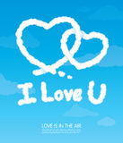Love is in the air. Greeting card designed with love Stock Photo