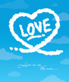 Love is in the air. Greeting card designed with love Royalty Free Stock Images