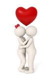 Love is in the air - 3d couple Stock Photography
