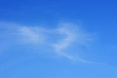 Love is in the air. Clouds in the shape of a heart Royalty Free Stock Photography