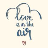 Love is in the air hand drawn vector illustration Royalty Free Stock Photos