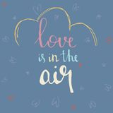 Love is in the air hand drawn vector illustration Royalty Free Stock Images