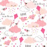 Love is in the air Valentine`s pattern Vector Illustration
