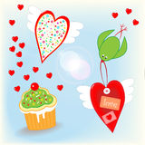 Love is in the air valentines day stuff Stock Photography