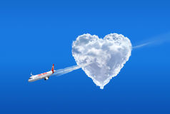 Love airline. Love is in the air Stock Photography