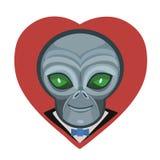 I love the alien Vector Illustration