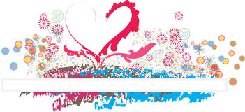 Love is all around background. Love is all around for valentine day Stock Photography