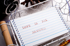 Love is all around card Royalty Free Stock Photos