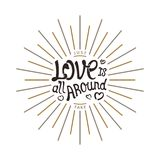 Love is all around Stock Photography