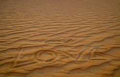 Love is all around in Dubai desert Royalty Free Stock Photos