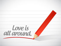 Love is all around message illustration design Stock Photos