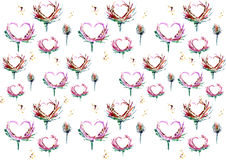 Love is all around seamless pattern stock illustration