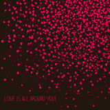 'Love is all around you!' Lovely postcard. Copy space for text. Stock Images